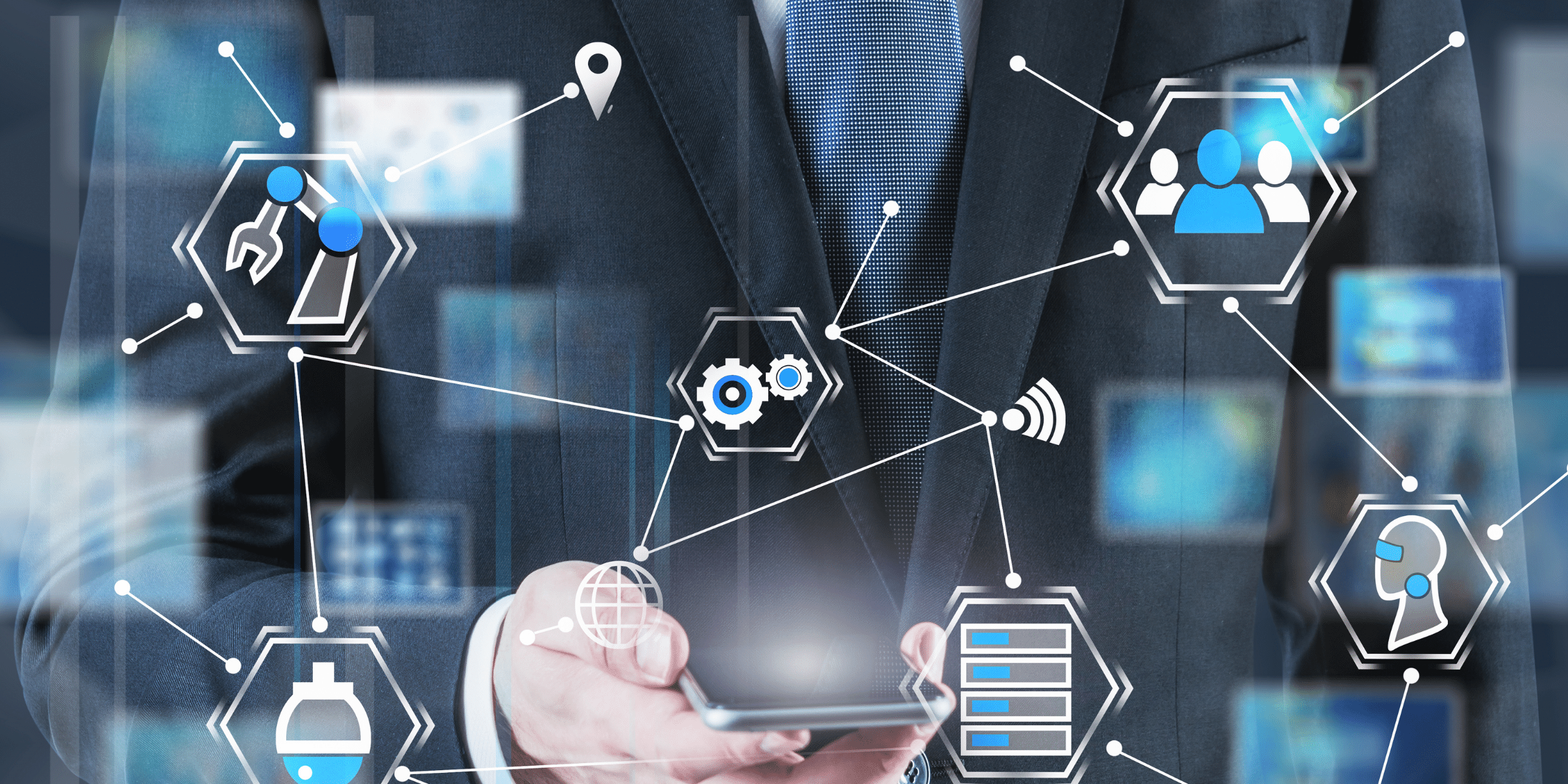 Plattformgeschäftsmodell - alles ist digital verbunden.